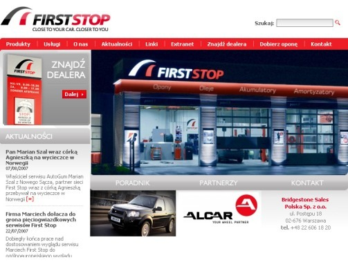 serwis internetowy Firststop
